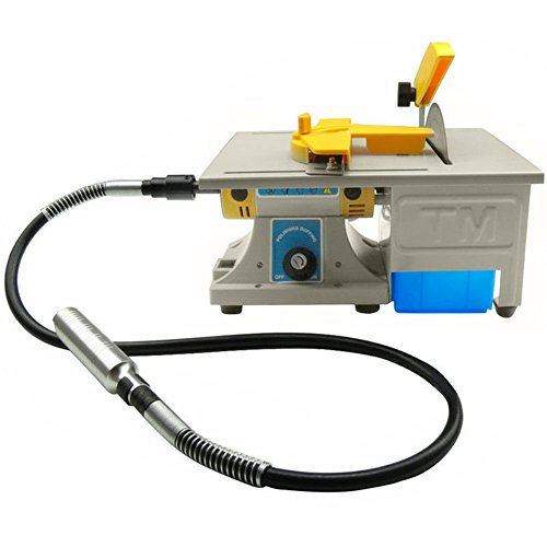 Dzhot51 110V 350W TM-3 Mini Table Saw Gem Jewelry Rock Polishing Buffer Bench Lathe & Polisher Machine Kit 0~10000RPM