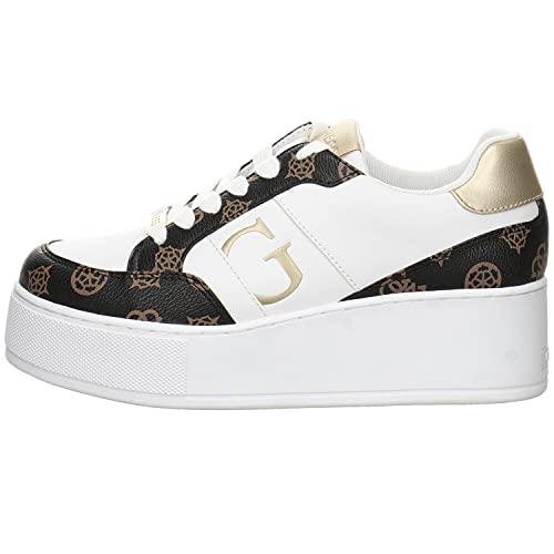Guess Donna FL7NEI FAL12 WHIBR Sneaker NEIMAN Bianco