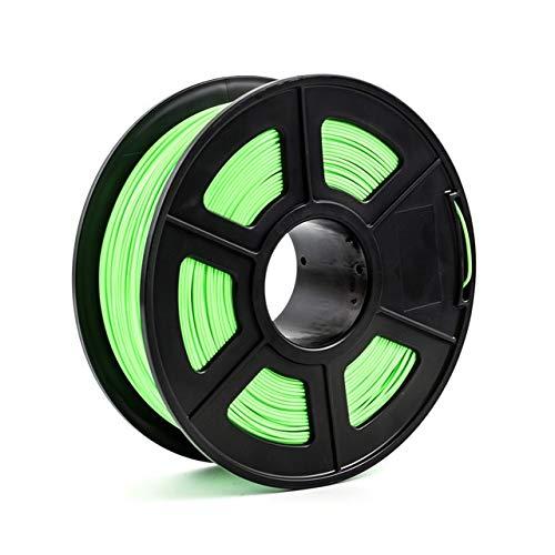 WANGZHI 3D Printer Filament 1.75mm 1kg/2.2lbs PLA PETG TPU Nylon Carbon Fiber Conductive ABS PC POM ASA Wood HIPS PVA Plastic Filament (Color : PLA Green, Size : Free)