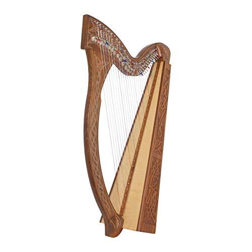 Roosebeck Minstrel Harp 29-String w/Full Chelby Levers - Knotwork
