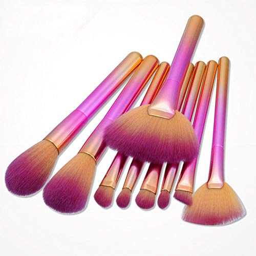 AHEFA9Pcs Pro Pinceles De Maquillaje Fantasy Brush Set Foundation Powder Sombra De...