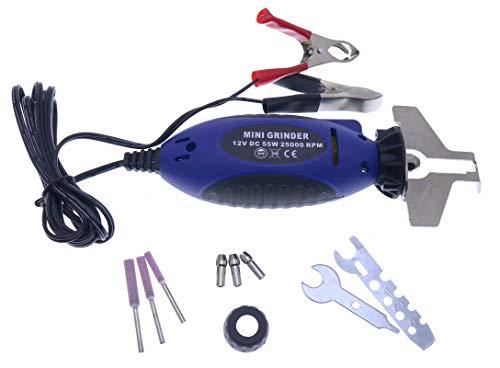 YIQI 12V Mini Chainsaw Sharpener 575214 Portable Electric Chain Saw Chain Sharpener Electric Grinder Chain Saw Grinder File Pro Tool