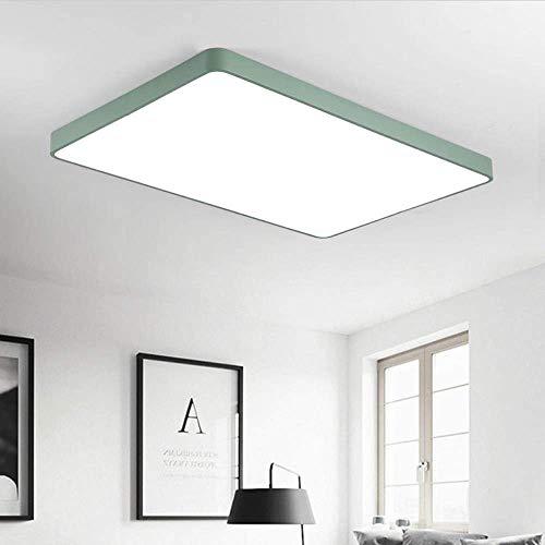 MJK Novedad Lámpara de techo, Lámpara de techo LED Lámparas modernas 110V 220V Iluminación de araña de metal LED para el hogar Sala de estar Dormitorio Accesorios de iluminación de cocina, Marco verd