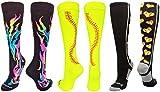 MadSportsStuff Flame Stitch Love Softball Socks Softball Pack (Softball Pack...