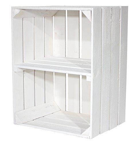 """Weiße Kiste für Schuh-und Bücherregal """"quer"""" 50x40x30cm"""