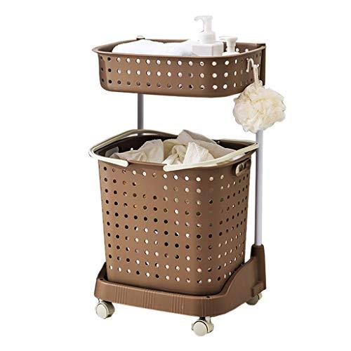 YULAN Badezimmerregal Badezimmer Waschmaschine Toilette Stehender Abstellraum Badewanne Waschtisch Bad Abstellraum (Color : Brown)