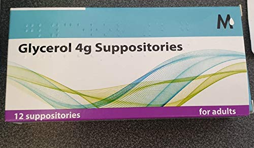 Glycerol Suppositories Adult - 4g, Three Packs of 12s Each