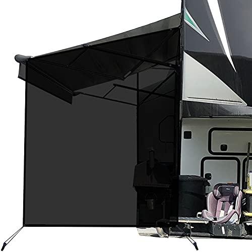 leaveshade RV Awning Sunshade Screen ● Tentproinc Black Mesh Sun Shade ●Block Sunshine from Patio Side Direction ●Motorhome Camping Trailer UV Sunblocker ●Canopy Sunscreen-3 Years Lasting