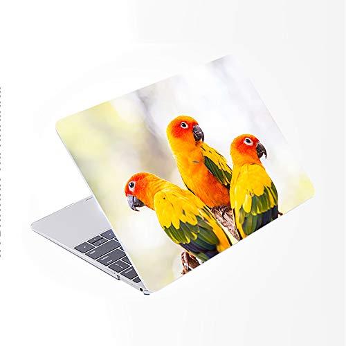 SDH Funda para MacBook Pro de 13 pulgadas (2020/2019/2018/2017/2016, Touch Bar e ID),funda para ordenador portátil y cubierta para Mac Pro 13 A2159/A1989/A1706/A1708, Cute Parrot 4