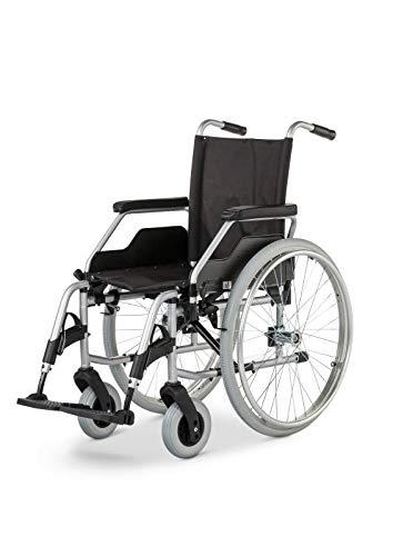 Meyra Rollstuhl Budget 9.050, Steckachse, Faltrollstuhl, silverline, PU, Größe: 40 cm