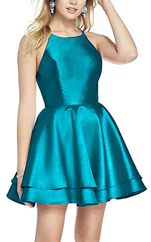 Juniors Satin Mini Cocktail Prom Party Gown