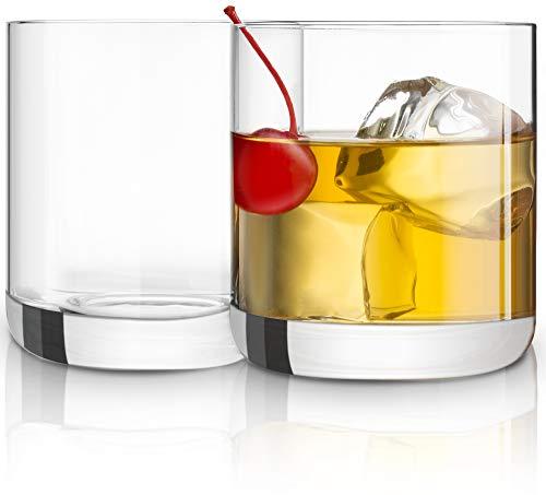 JoyJolt Nova Crystal Old Fashioned - Vasos de whisky para cóctel y whisky, excelente para vasos de cóctel, 10 onzas, juego de 2