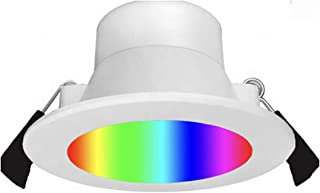 4 Pcs 9W 90mm Cutout Dimmable WiFi Smart LED Downlight Kit RGB and Warm White, Daylight and Cool White Changeable