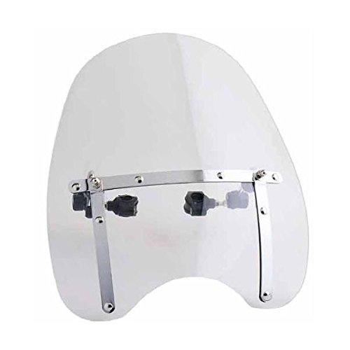 Cupula Parabrisas para Moto Custom. Transparente. Medidas 42 x 45 cm.