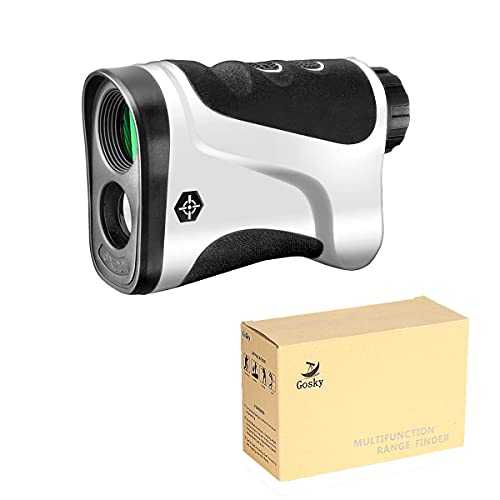 Gosky Golf Rangefinder - Laser Range Finder with Ranging, Scan, Flagpole Lock, and Speed Function - Free Battery (LE600G, 650yd/600m)