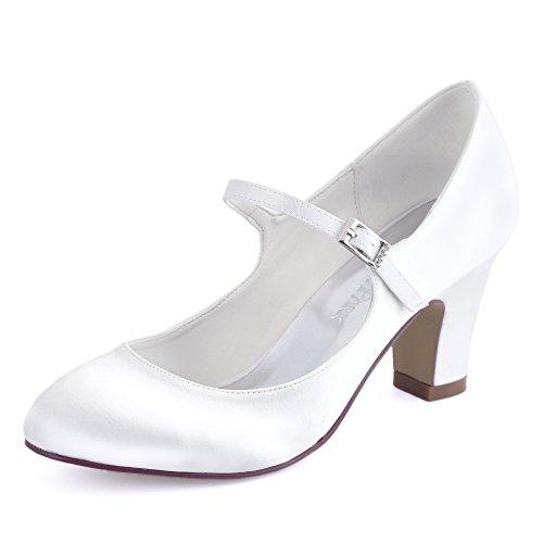 Elegantpark HC1801 Chaussures Mariée Femmes Mary Jane...