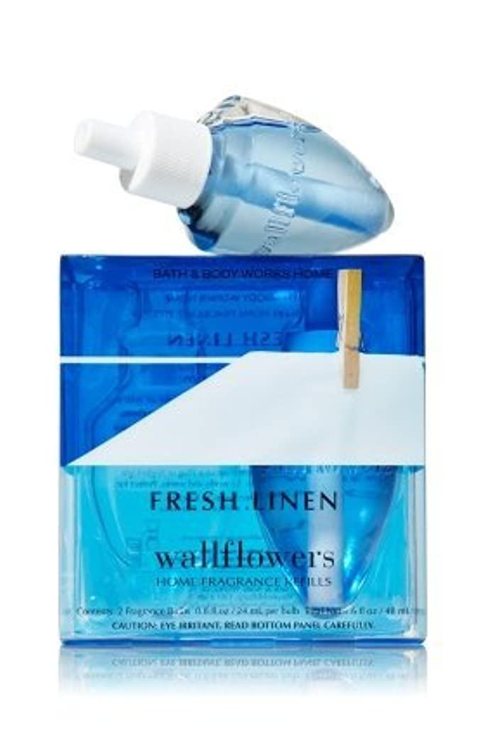 【Bath&Body Works/バス&ボディワークス】 ホームフレグランス 詰替えリフィル(2個入り) フレッシュリネン Wallflowers Home Fragrance 2-Pack Refills Fresh Linen [並行輸入品]