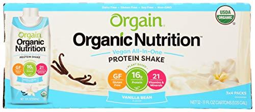 Orgain, Shake Vanilla Bean Plant Based Organic Case, 44 Fl Oz, 4 Pack