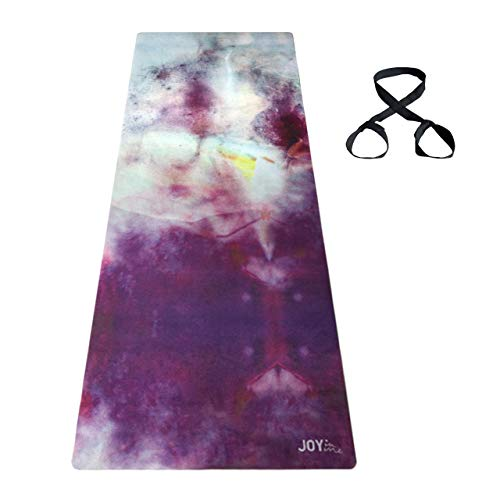 Rutschfeste Yogamatte Naturkautschuk mit Tragegurt weiche Mikrofaser-Oberfläche 183x61x0,3 cm (JOY in me FLOW...