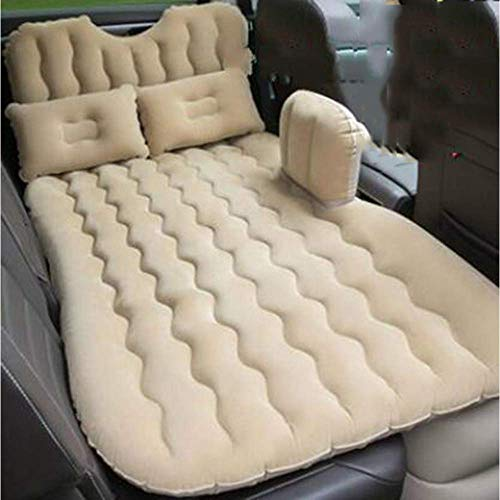 Zixin Autoreisebett, Auto-Rücksitzabdeckung Luftmatratze Reisebett aufblasbare Matratze Wagen-Bett-Luft-Bett (Color : White)