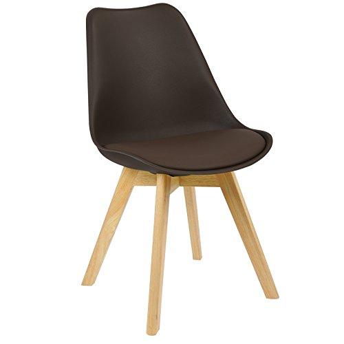 WOLTU BH29br-1 1 x Esszimmerstuhl 1 Stück Esszimmerstuhl Design Stuhl Küchenstuhl Holz Braun