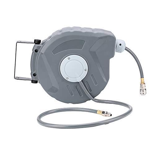 Nachar Automatik-wasserschlauch-trommel,federzug Kabeltrommel Autoaufroller 180 Grad Drehbar Und Rohrschloss(10 M Schlauchlänge,maximaler Druck: 18bar, Für Druckluft Oder Wasser)