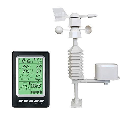 ウェザーステーション、天気予報ステーション、農業、庭、バルコニー、家、温度と湿度計、風速 多機能気象...