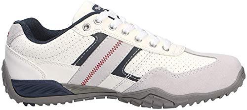 Dockers by Gerli Herren Sneaker Schwarz, Braun, Grau, Weiß, Natur, Schuhgröße:EUR 46, Farbe:Weißtöne