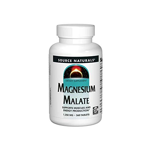 Source Naturals Magnesium Malate, 1250mg, 360 Veg. Tabletten