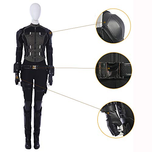 Shirts Cosplay Black Widow Tights Cosplay Kostüme Full Set Uniformen (9-teiliges Set) Black-XXL