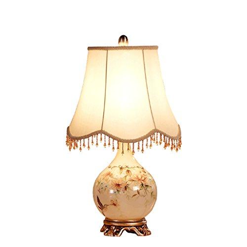 Caisedemeng Lámparas de Escritorio Decoración del Cerámica del Dormitorio lámpara de Mesa de Noche Moderna Simple Jardín Tela Caliente Sala de Estar lámpara de Mesa