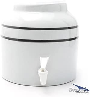Bluewave Stripe Design Water Dispenser Crock, Black