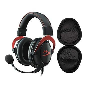 Kingston HyperX Cloud II Gaming Headset  Red  with Knox Gear Hard Shell Headphone Case Bundle  2 Items