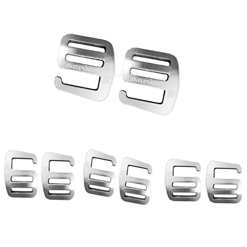 Aluminium G Haken Webbing Buckle Rucksack Gurt Band Strap Schnalle 25mm Silber (8 Stück Pack)