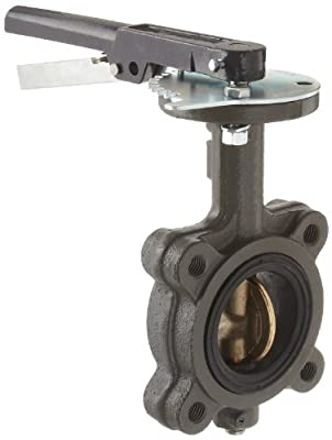 "Milwaukee Valve CL223E Series Cast Iron Butterfly Valve, Lug Style, Aluminum/Bronze Disc, EPDM Seat, Lever Handle, 6"" Flanged by Milwaukee Valve"