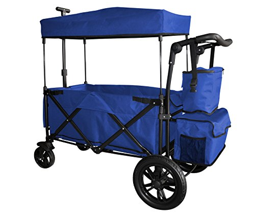 Blue Push and Pull Handle/Foot Brake Folding Wagon Baby Stroller Utility CARTFREE Carrying Bag
