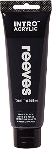 Reeves - Pintura acrílico, 120 ml, Negro de marte