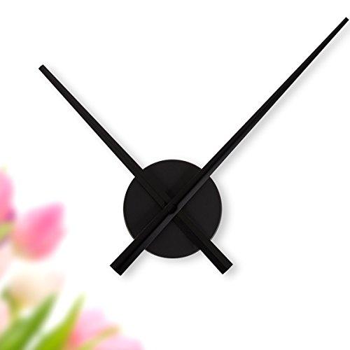 WANDKINGS Wanduhr Solo XL mit Uhrwerk & extra großen Uhrzeigern - Farbe: SCHWARZ