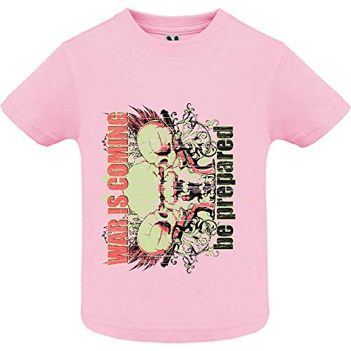 LookMyKase T-Shirt - War is Coming - Bébé Fille - Rose - 2ans