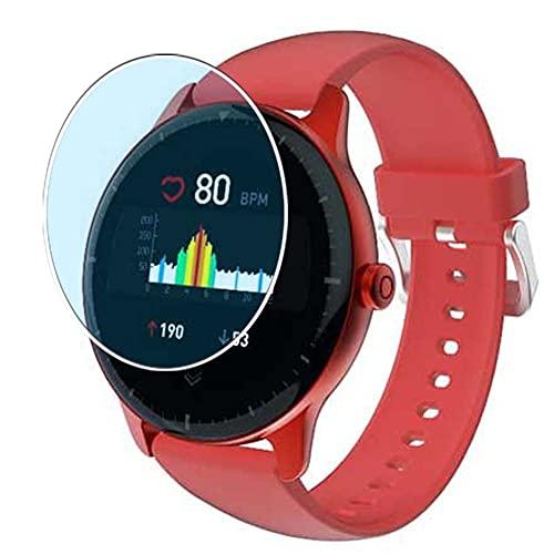 Vaxson 3 Unidades Protector de Pantalla Anti Luz Azul, compatible con Doogee CR1 Smart Watach 1.3' Smartwatch Smart Watch [No Vidrio Templado] TPU Película Protectora