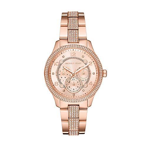 Michael Kors Damen Analog Quarz Uhr mit Edelstahl Armband MK6614