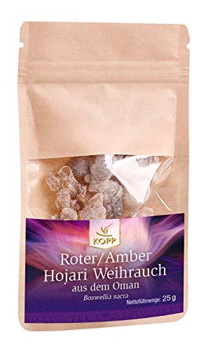 Kopp Verlag Roter/Amber Hojari Weihrauch aus dem Oman | 25 g | fruchtig und zitronig