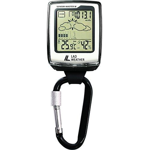 [ラドウェザー]アウトドア時計 温度計 湿度計 気圧計 高度計 コンパス フックウォッチ ポケットウォッチ