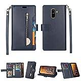 Cas de téléphone for Samsung Galaxy A6 + / Galaxy J8 (2018) Étui en cuir horizontal horizontal à...