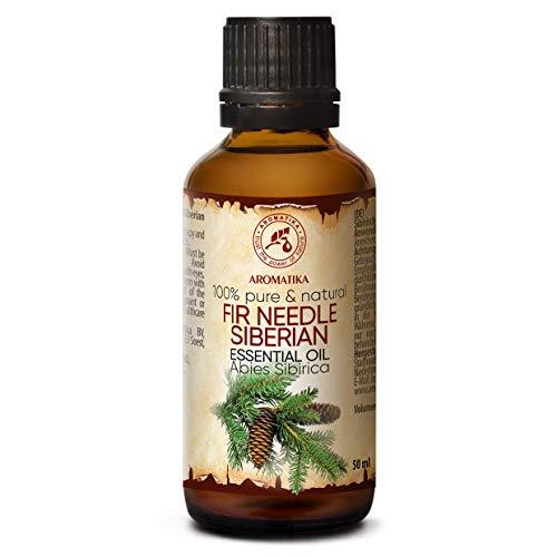 Spruce Needle Oil Siberian 50ml - 100% Natuurlijk en Pure Essential - Abies Sibirica - Sparolie Goed voor Sauna - Lichaamsverzorging - Ontspanning - Geurverspreider - Kamergeur - Geurlamp