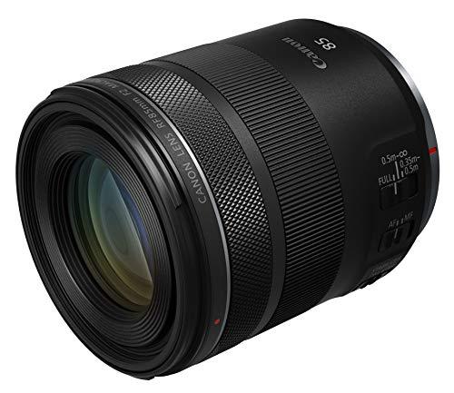 Canon Objektiv RF 85mm F2 - Macro IS STM - Porträtobjektiv für EOS R Serie (Festbrennweite, extreme Detailaufnahmen, 5-Stufen optischer Bildstabilisator, 500g, kompakt), schwarz