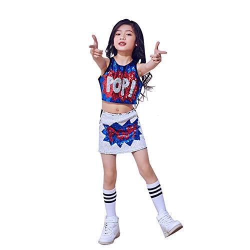 LOLANTA 3 stuks kinderen meisjes pailletten jazz dans kostuum hip hop dans gala performance kleding set