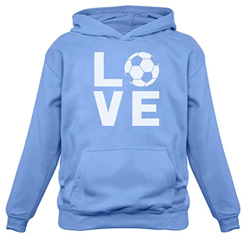I Love Soccer Sweatshirt Gift for Soccer Players Fans Women Hoodie Small California Blue