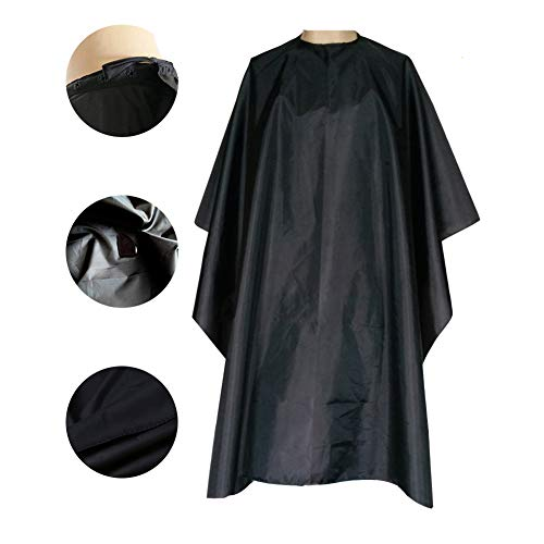 "Magiczone Nylon Waterproof Professional Salon Cape with Snap Closure Hair Salon Cutting Cape Barber Hairdressing Cape - 59"" x 51"", Pack of 1"