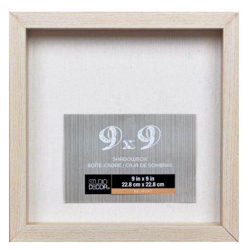 Studio Decor Heavy Duty Wood Frame 1' Depth Shadow Box Display Case Nursery Wedding Graduation (Blonde, 9'x9')